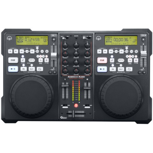 American Audio Encore 1000 - Dj-mixer en cd/mp3 speler in een